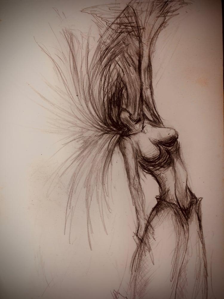 Sculpteur contemporain Alexandre Berlioz - Esquisse Divine Angel
