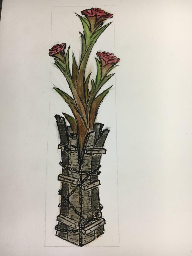 Sculpteur contemporain Alexandre Berlioz - Esquisse Roses