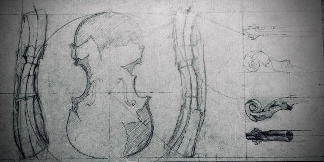 Sculpteur contemporain Alexandre Berlioz - Esquisse Violon