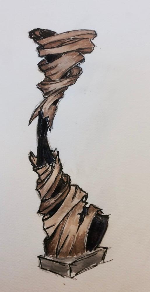 Sculpteur contemporain Alexandre Berlioz - Esquisse Zéphir