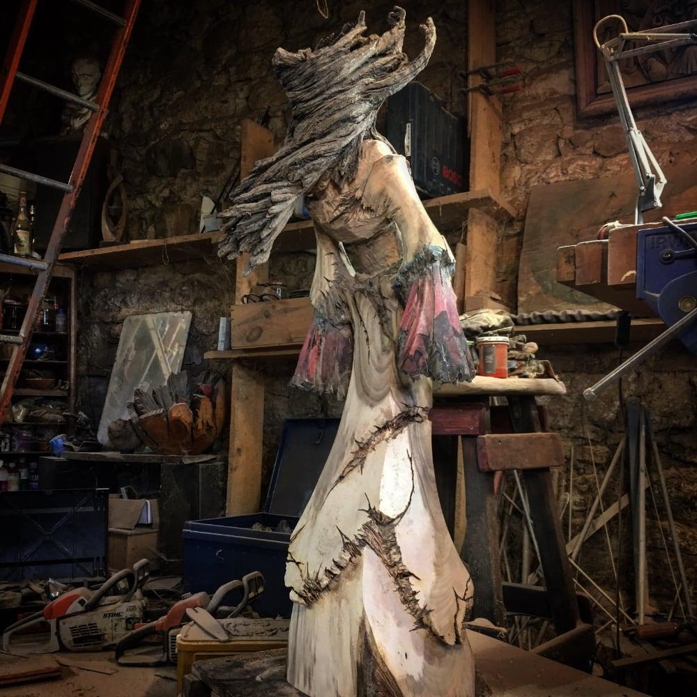 Sculpteur contemporain Alexandre Berlioz - en cours - Divine Angel