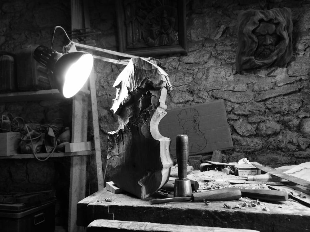 Sculpteur contemporain Alexandre Berlioz - en cours - Violon